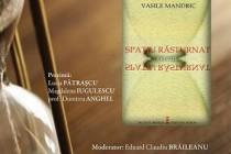 "Vasile Mandric lanseaza volumul de poezii  ""Spatiu rasturnat"", la Biblioteca Judeteana Braila"