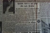 Agresiune împotriva unui primar din jud. Brăila. Dimineaţa 1932.