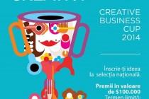 Creative Business Cup România, înscrieri pâna pe 20 septembrie 2014