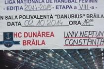 "Handbal feminin: HC Dunarea Braila - Universitatea ""Neptun"" Constanta"