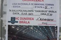 "Handbal feminin: HC Dunarea Braila - ""U"" Alexandrion Cluj"