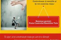 """Seminar gratuit """"Preia Controlul Emoţiilor Tale"""" la Biblioteca Judeteana Braila"""