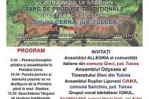 Sezatoare inter-etnica (editia a VII-a) si Coșia (editia a III-a) în comuna Cerna, jud. Tulcea, vineri, 1 mai 2015