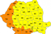 Braila sub cod galben de canicula, 10 judete cod portocaliu, 12 august 2015