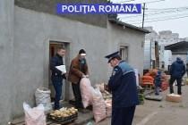Razie organizată de polițiștii în piețele și centrele comerciale din Brăila