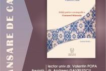 """Violeta Craiu lansează cartea """"Schiță pentru o monografie a Comunei Stăncuța"""""""