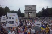 Martor si participant la Marea Adunare Nationala de la Chisinau.
