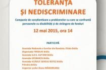 """""""Toleranță  si nediscriminare"""", eveniment organizat la biblioteca """"Panait Istrati"""" Brăila"""