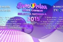 Eurovision România 2015: ordinea intrării în concurs