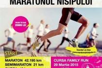 Maratonul Nisipului - 29 martie 2015, pe plaja din statiunea Mamaia