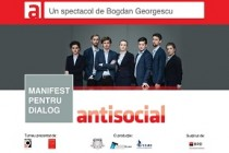 """Antisocial"", spectacol TMF Independent la Teatrul Maria Filotti"
