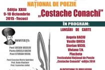 """Festivalul National de Poezie """"Costache Conachi"""" ed.XXIII, Tecuci, 9-10 octombrie 2015"""