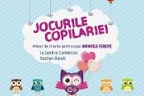 """""""Bufnițele fericite"""", atelier de creație pentru copii la Centrul Comercial """"Auchan"""" Galați"""