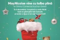 Moș Nicolae sosește cu tolba plină în Centrul Comercial Auchan Galați
