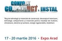 17 – 20 martie 2016 – Expo Arad. Cel mai important târg de construcții și instalații din vestul țării