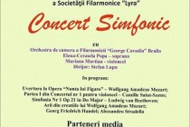 Concert Simfonic la Lyra. Mozart,Saint-Saens, Beethoven si Handel in program.