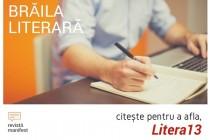 Litera 13 a lansat prima carte poștală literară brăileană