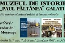 """Lansare de carte la muzeul """"Casa Cuza Vodă"""" Galați"""