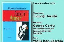 Mircea Constanda lansează Amor Amar. Epigramă și poezie