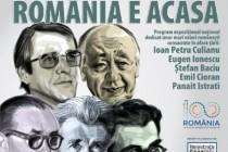 ROMÂNIA E ACASĂ. Expoziții dedicate unor mari valori românești Ioan Petru Culianu, Eugen Ionescu, Ṣtefan Baciu, Emil Cioran, Panait Istrati