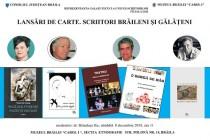 LANSĂRI  DE  CARTE. 4 SCRIITORI BRĂILENI ȘI GĂLĂȚENI