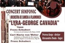 """Concert simfonic al Orchestrei de cameră a Filarmonicii """"Lyra-George Cavadia"""", 10 februarie 2018"""