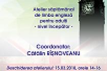 """Engleza pentru toți (nivel începător), curs gratuit pentru adulți organizat de Biblioteca Județeană """"Panait Istrati"""""""