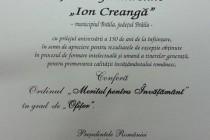 """Scoala gimnazială """"Ion Creangă"""" Brăila decorată de Președintele României"""