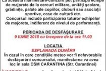"""Concursul național """"Majorette-Fest"""", ediția a V-a, Brăila, 9 iunie 2018"""