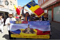 """Drapelul tricolor """"CENTENAR-MAREA UNIRE-ALBA IULIA-2018"""" prezent la manifestările de la Viena"""