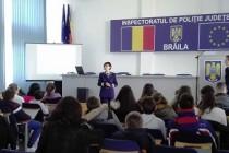 Educație juridică desfășurată de Inspectoratul de Poliţie Judeţean Brăila