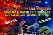 La Brăila Campionatul Național de Kick Boxing și K1 Cupa All Styles Tatami (Low Kick, Kick Light și Full Contact)