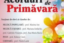 Acorduri de primăvară la Şcoala Populară de Arte Vespasian Lungu Brăila.Muzică populară şi uşoară