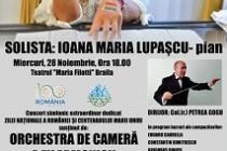 Concert Simfonic Extraordinar dedicat Zilei Nationale a Romaniei si Centenarului Marii Uniri susținut de Filarmonica