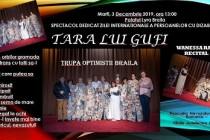 """Piesa de teatru """"Tara lui Gufi"""" la Palatul Lyra, de Ziua Internationala a Persoanelor cu Dizabilitati"""