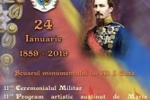 Brăila: Manifestările dedicate împlinirii a 160 de ani de la Unirea Principatelor Române au loc la Monumentul Domnitorului Alexandru Ioan Cuza