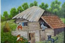 DUMITRU STEFANESCU - STEF expune pictura naiva cu tema POVESTI CU HAZ