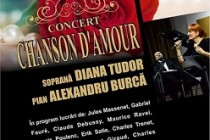 Recital ''Chanson d'amour'', sustinut de soprana Diana Tudor și pianistul Alexandru Burcă, la Palatul Lyra