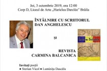 Intâlnire cu poetul Dan Anghelescu și lansarea revistei Carmina Balcanică la Liceul de Arte Brăila