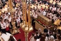 Procesiune la Galaţi cu moaştele Sfântului Ierarh Grigorie Dascălul şi ale Sfântului Apostol Andrei