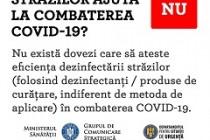 COVID-19 | Dezinfectarea strazilor este o măsură a cărei utilitate nu a fost stabilită