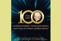 """Institutul de Istorie """"George Barițiu"""" la Centenar (1920-2020). Prezentarea istoriei, activităților și realizărilor, eveniment la Muzeul Brăilei"""
