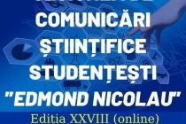Sesiunea de comunicări științifice studențești Edmond Nicolau ediția a XXVIII-a 2021
