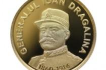 BNR | Monedă din aur cu tema 160 de ani de la nașterea generalului Ioan Dragalina