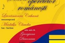 Seara operetelor româneşti cu Lăcrămioara Crihană mezzosoprană şi Mădălin Claudiu bas-bariton