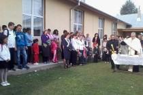 Elevii din comuna Dudeşti au inaugurat şcoala cea nouă cu cântece şi poezii