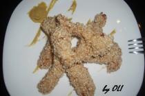 Chicken fingers - fasii de pui cu susan