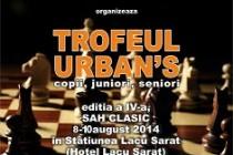 Trofeul Urban'S - sah clasic, copii,juniori si seniori, editia a IV-a