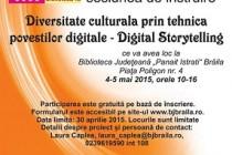 Diversitate culturala prin tehnica povestilor digitale - Digital Storytelling, la Biblioteca Judeteana Braila