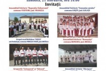 "Silistea: Sezatoare cultural-artistica ""De Dragobete sarbatorim româneste"", editia a II-a, sâmbata, 21 februarie 2015"